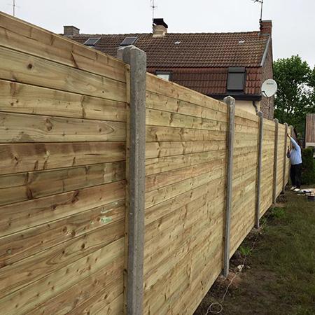 Pose de clôture près de Tourcoing et Halluin