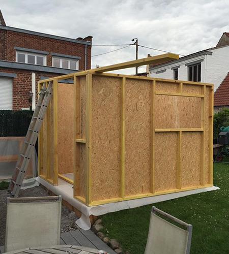 Construction d'extension ossature bois près de Tourcoing et Halluin